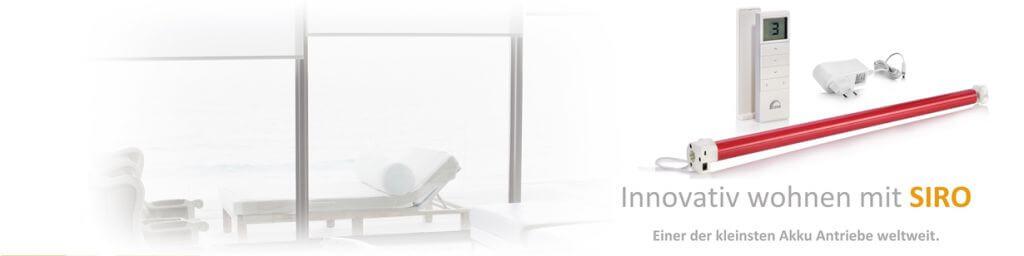 antrieb motor rohrmotor f r rollos u sonnenschutz akku funk schnelle lieferung. Black Bedroom Furniture Sets. Home Design Ideas