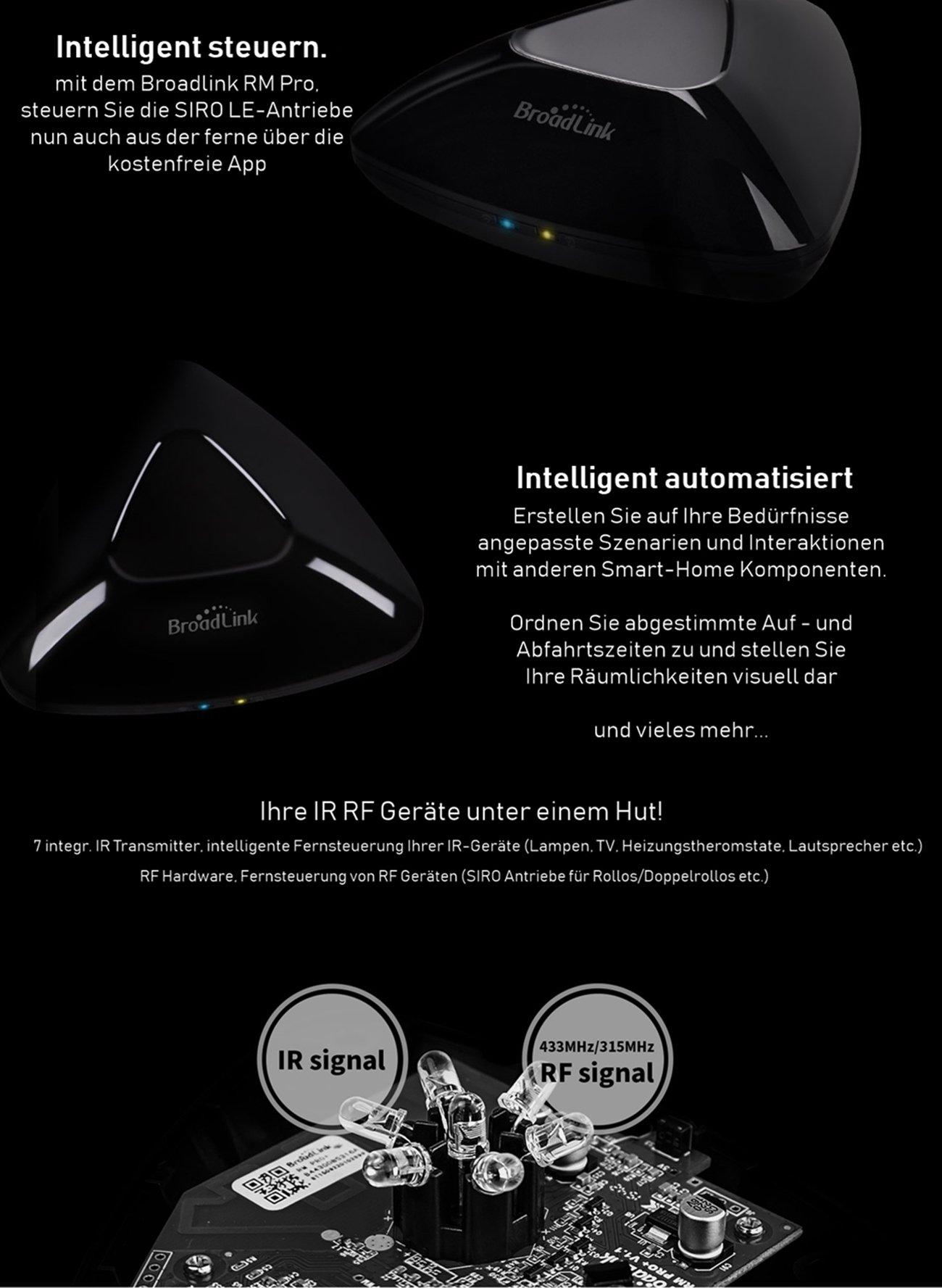 Broadlink RM Pro Smart Home Automation - Intelligente Fernbedienung ...